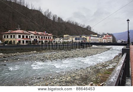 Mzymta River in Rosa Khutor Alpine Resort