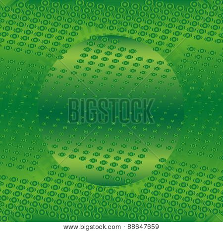Abstract green technical with dots background