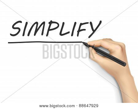 Simplify Word Written By Hand