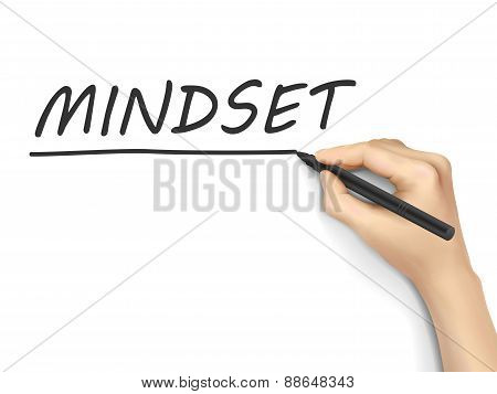 Mindset Word Written By Hand