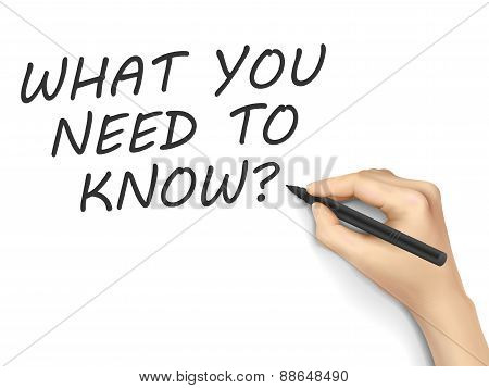 What You Need To Know Written By Hand