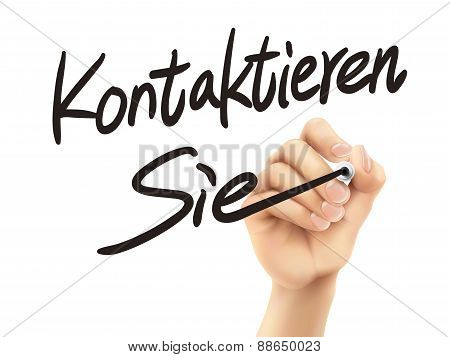 German Words For Contact Us