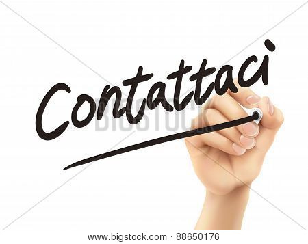 Italian Words For Contact Us