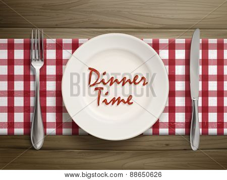 Dinner Time Written By Ketchup On A Plate