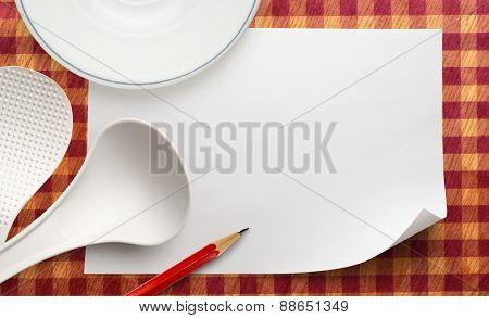 Blank Paper With Plate
