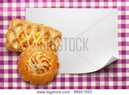 Blank Paper With Cakes