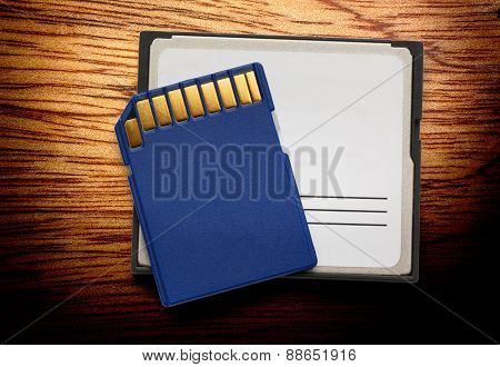 Blue Compact Memory Cards