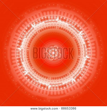 Abstract Techno Circle background Vector