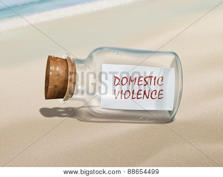 Domestic Violence Message In A Bottle