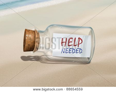 Help Needed Message In A Bottle