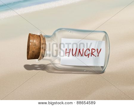 Hungry Message In A Bottle