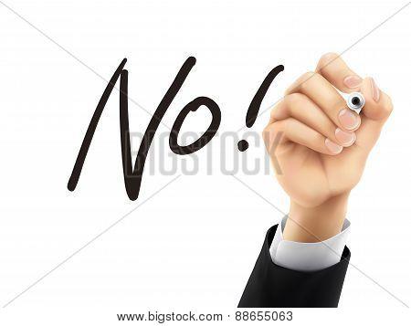 No Written By 3D Hand