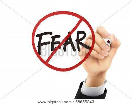 No Fear Written By 3D Hand
