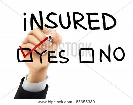 Yes Insured Written By 3D Hand