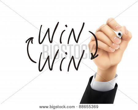 Win Written By 3D Hand