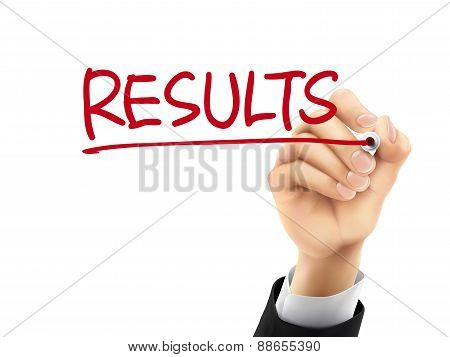 Results Written By 3D Hand