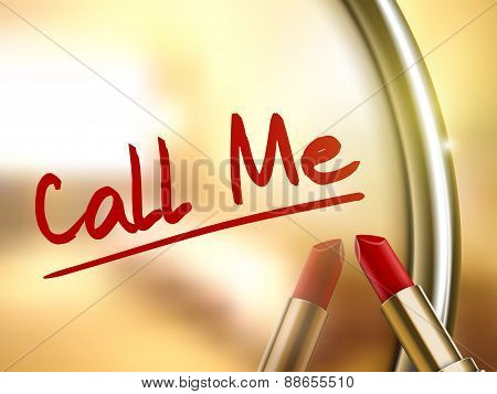 Call Me Words Written By Red Lipstick