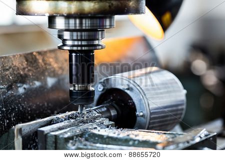 drilling machine in factory workshop