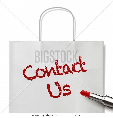 Contact Us Words Written By Red Lipstick