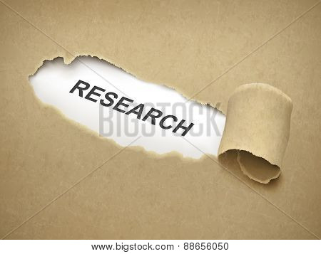 The Word Research Behind Torn Paper