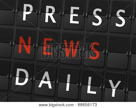 Press News Daily Words On Airport Board