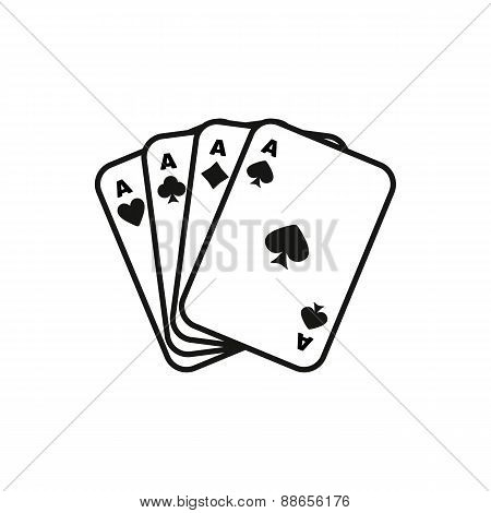 The Ace Icon. Playing Card Suit Symbol