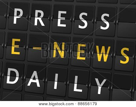 Press E-news Daily Words On Airport Board