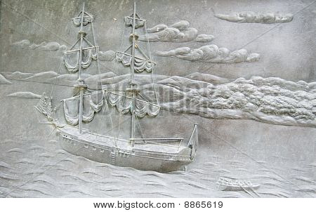 Founding of Australia HMS Supply plaque