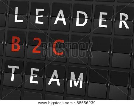 Leader B2C Team Words On Airport Board