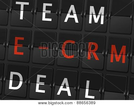 Team E-crm Deal Words On Airport Board