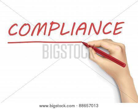 Compliance Written By 3D Hand