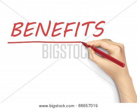 Benefits Written By 3D Hand