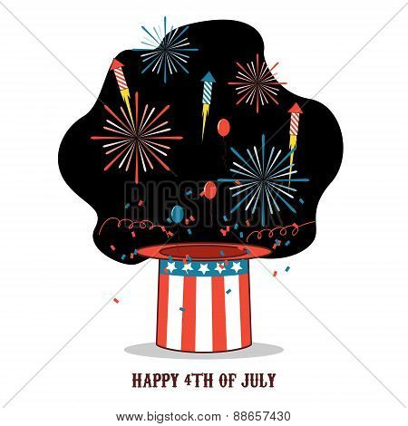Isolated cartoon celebration of america independence day