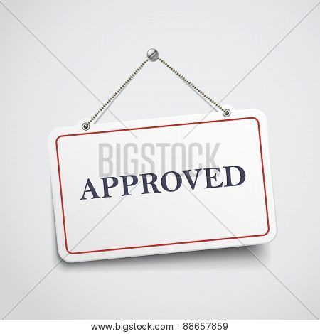 Approved Hanging Sign