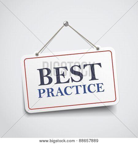 Best Practice Hanging Sign