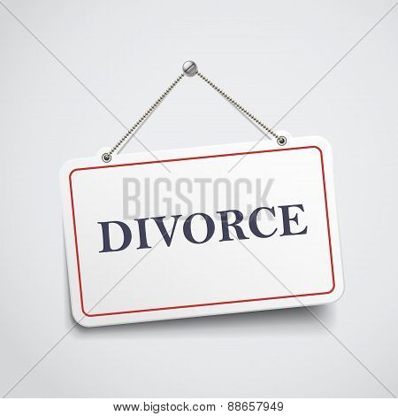Divorce Hanging Sign