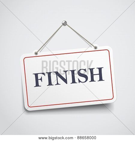 Finish Hanging Sign