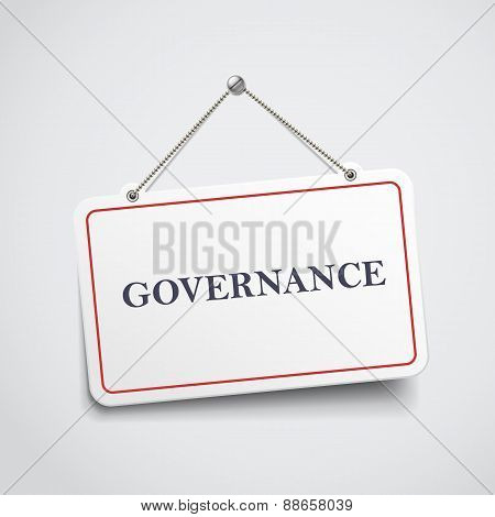 Governance Hanging Sign