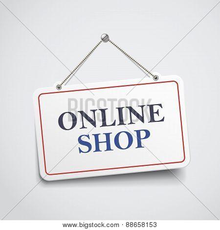 Online Shop Hanging Sign