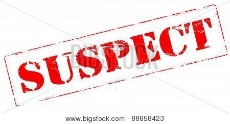 Rubber stamp with word suspect inside vector illustration