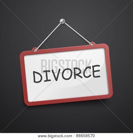 Divorce Hanging Sign