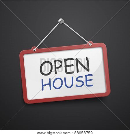 Open House Hanging Sign