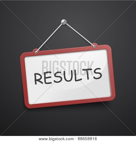 Results Hanging Sign