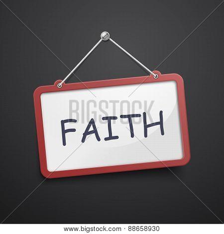 Faith Hanging Sign