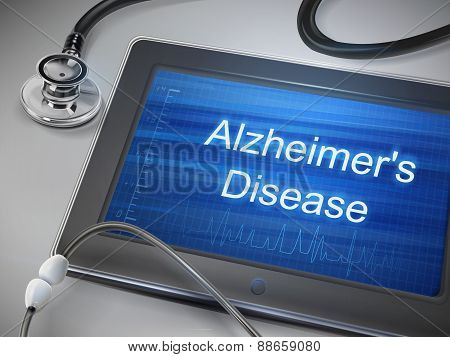 Alzheimer's Disease Words Display On Tablet