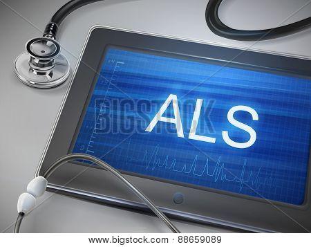 Als Word Display On Tablet