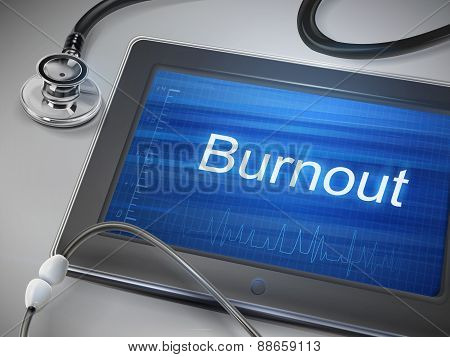 Burnout Word Display On Tablet