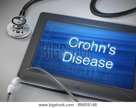Crohn's Disease Words Display On Tablet