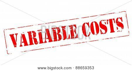 Rubber stamp with text variable costs inside vector illustration