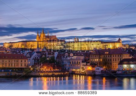 Castle of Prague (Czech Republic) and Vltava River